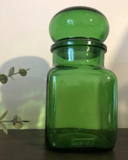 bocal vert en verre ARIEL