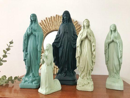 statuette religieuse vintage revisitée