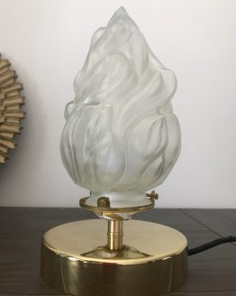 lampe a poser vintage globe flambeau