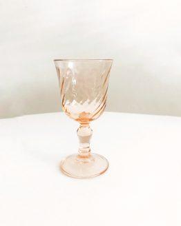 Verres à liqueur Rosaline vintage