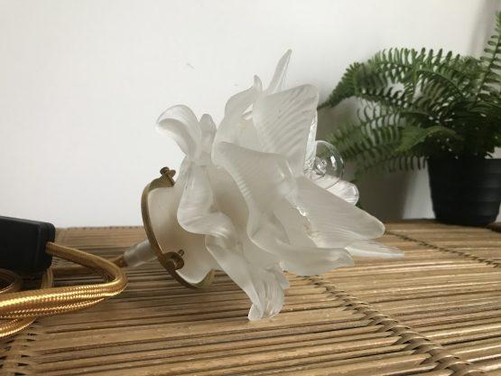 lampe baladeuse fleur en pate de verre
