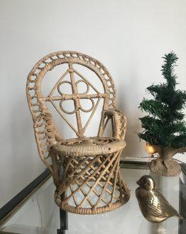 Mini fauteuil Emmanuelle en rotin pour poupées ou plantes
