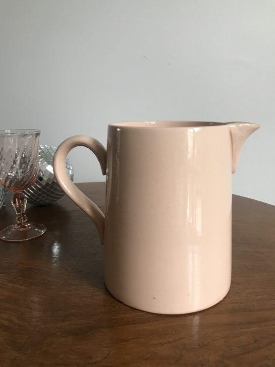 pichet à eau rose poudré digoin sarreguemines