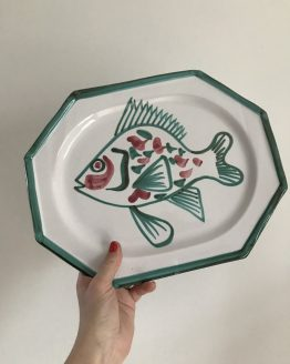 plat octogonal poisson robert picault 1950