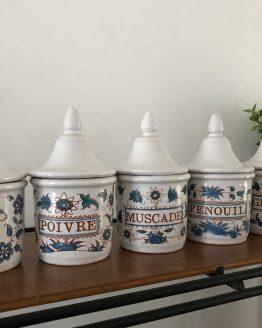 pots à épices anciens Moustier G.F