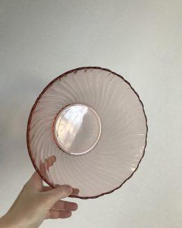 Saladier Rosaline Arcoroc en verre rose
