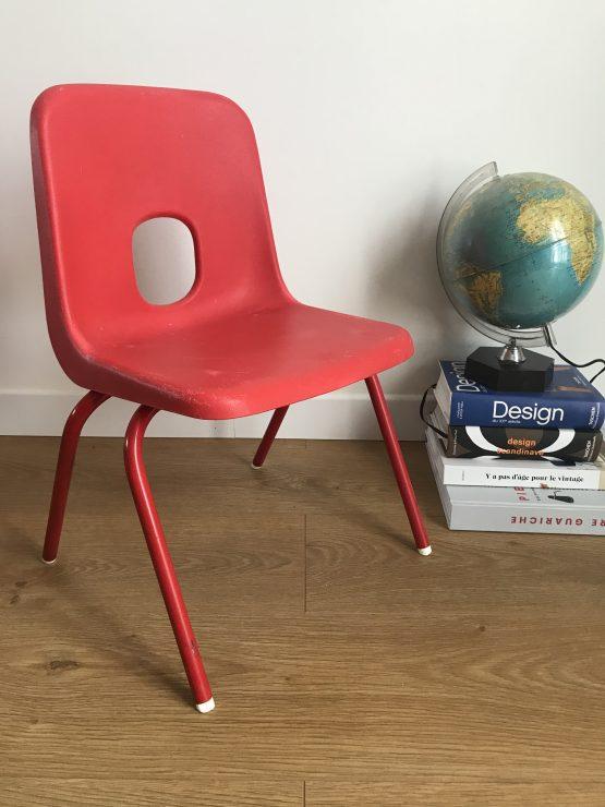 Chaise enfant vintage Rouge par ROBIN DAY pour IKEA