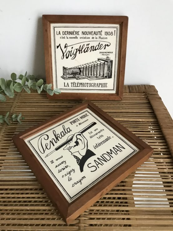 publicités anciennes sur céramique