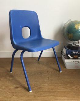 Chaise enfant vintage Bleue par ROBIN DAY pour IKEA