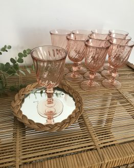 verre à eau rosaline vintage