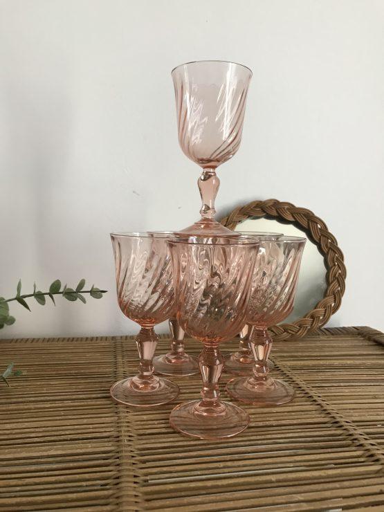 verre apéritif vintage rosaline