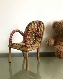 Mini chaise en rotin