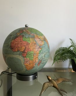 Globe lumineux ancien Perrina et VERRE ET PAPIER vers 1940