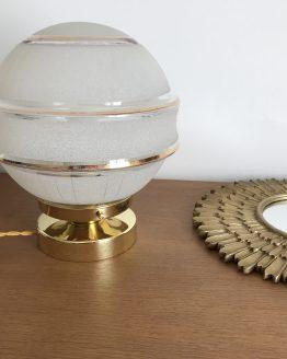 lampe globe à poser en verre vintage