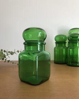 Ancien bocal vintage vert ARIEL