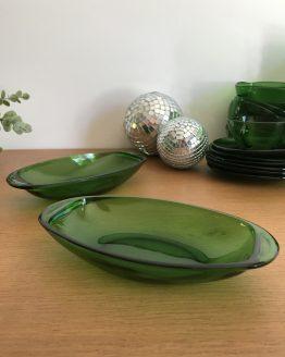 Paire de raviers Vert bouteille VERECO