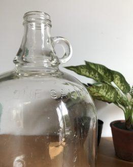 Bonbonne Dame Jeanne US en verre transparent One Gallon (3.8Litres)