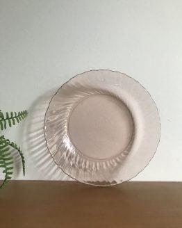 Plat semi creux Rosaline arcoroc en verre rose