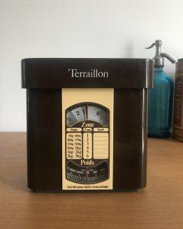 Balance vintage Terraillon marron collector Poids / Zone / tarif