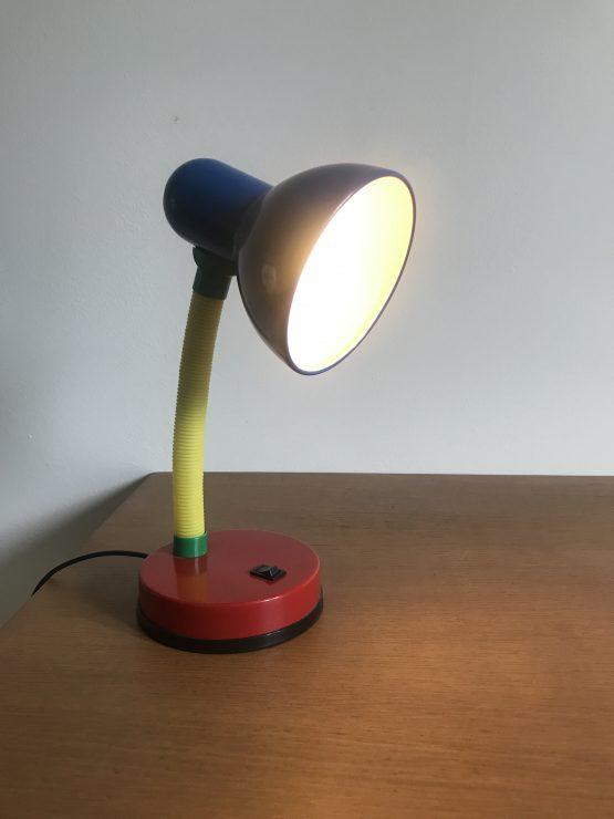 """Lampe de bureau colorée """"Memphis Style"""" années 80"""