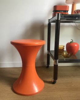 Tabouret vintage TAM TAM orange par STAMP