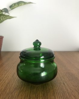 MINI POT BOCAL ROND VERT STYLE APOTHICAIRE MADE IN BELGIUM
