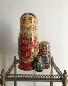 Grande Poupée Russe Matriochka vintage cache bouteille estampillée USSR
