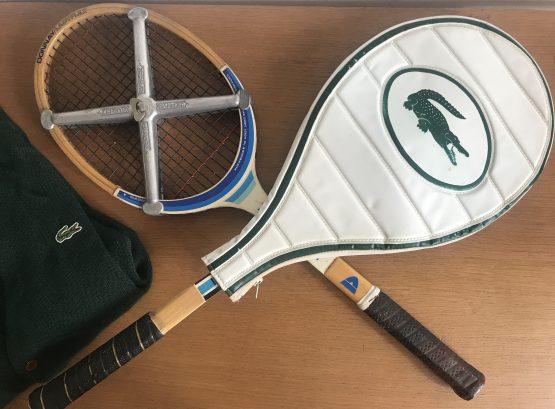 Composition murale Raquettes de Tennis vintage