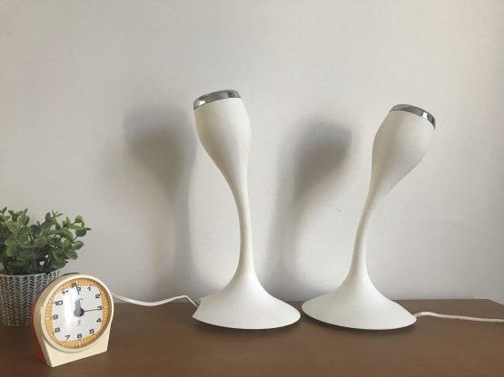 """Paire d'appliques tulipes blanches """"FLAMMA"""" pour ikea design de Carl Ojerstam"""